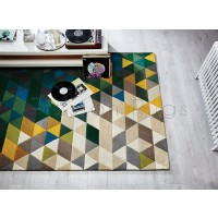 Illusion Prism Green/Multi Rug