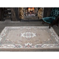 Aubusson Panel Rug  - Fawn
