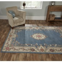 Aubusson Panel Rug  - Blue