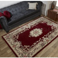 Aubusson Panel Rug  - Red-120 x 180 cm (4' x 6')
