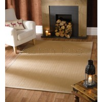 Natural Fibre Herringbone Natural Rug
