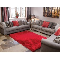 Pearl Shaggy Red Rug