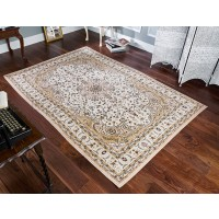Royal Classic Traditional Persian Design Ivory Beige Rug - 217 W
