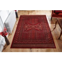 Royal Classic Traditional Afghan Design Red Rug - 635 R