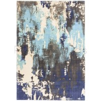 Saturn Abstract Rug - Blue