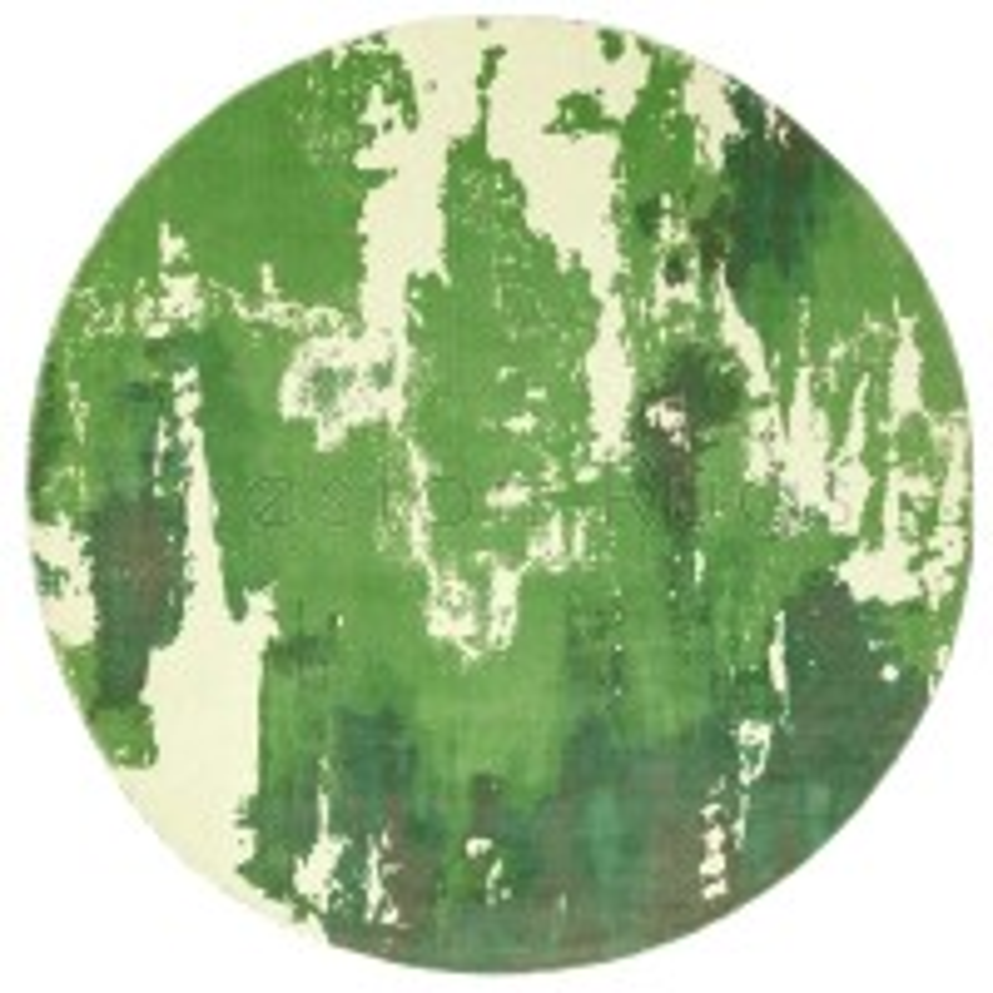 "Saturn Abstract Rug - Green - Size Circle 200 cm (6'7"")"