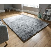 Splendour Shadow Shaggy Rug - Silver