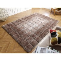 "Cube Shaggy Rug - Natural - Size 80 x 150 cm (2'8"" x 5')"