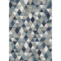 "Galleria Rug - Triangles 63263 5161 - Size 120 x 170 cm (4' x 5'7"")"