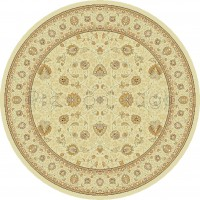 Noble Art Traditional Persian Style Rug - Beige Cream 6529/190-Round Circle 200cm