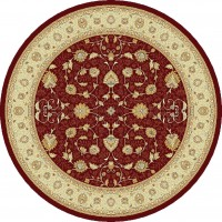 Noble Art Traditional Persian Style Rug - Red Beige Cream 6529/391-Round Circle 200cm