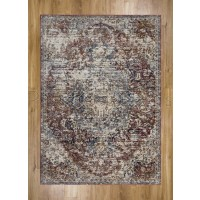 Alhambra Traditional Rug - 6504b red/red - Size 300 x 500 cm