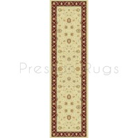 Noble Art Traditional Persian Style Rug - Beige Cream Red 6529/191-Runner 67x240