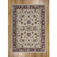 "Alhambra Traditional Rug - 6549a ivory/ivory - Size 200 x 290 cm (6'7"" x 9'6"")"
