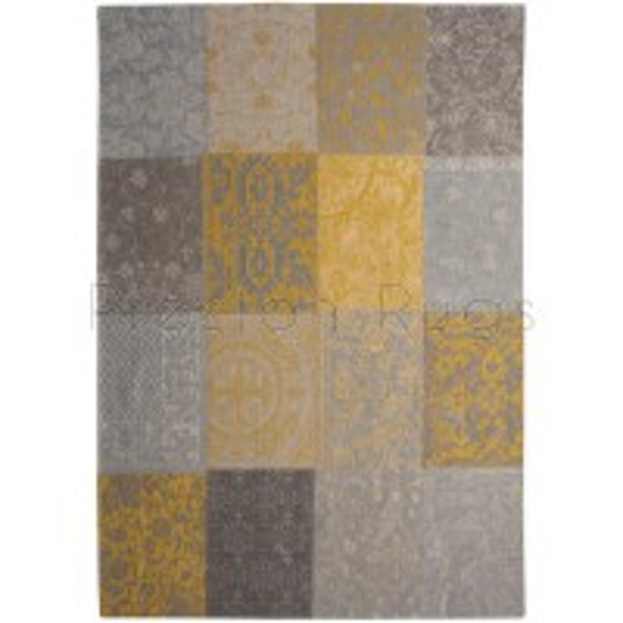 "New Vintage Yellow 8084 Rug by Louis de Poortere-140 x 200 cm (4'7"" x 6'7"")"