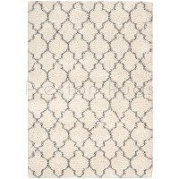 "Amore Luxury Pattern Shaggy Rug - Cream-119 x 180 cm (3'11"" x 6')"