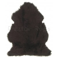 British Sheepskin Rug  - Dark Chocolate-Double Skin