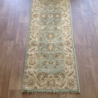 Ziegler Traditional Agra Design Rug - 7709 Green-Runner 67 x 230 cm
