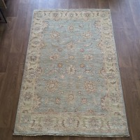 Afghan Ziegler Hand-knotted Traditional Wool Rug - Green 125 x 190 cm