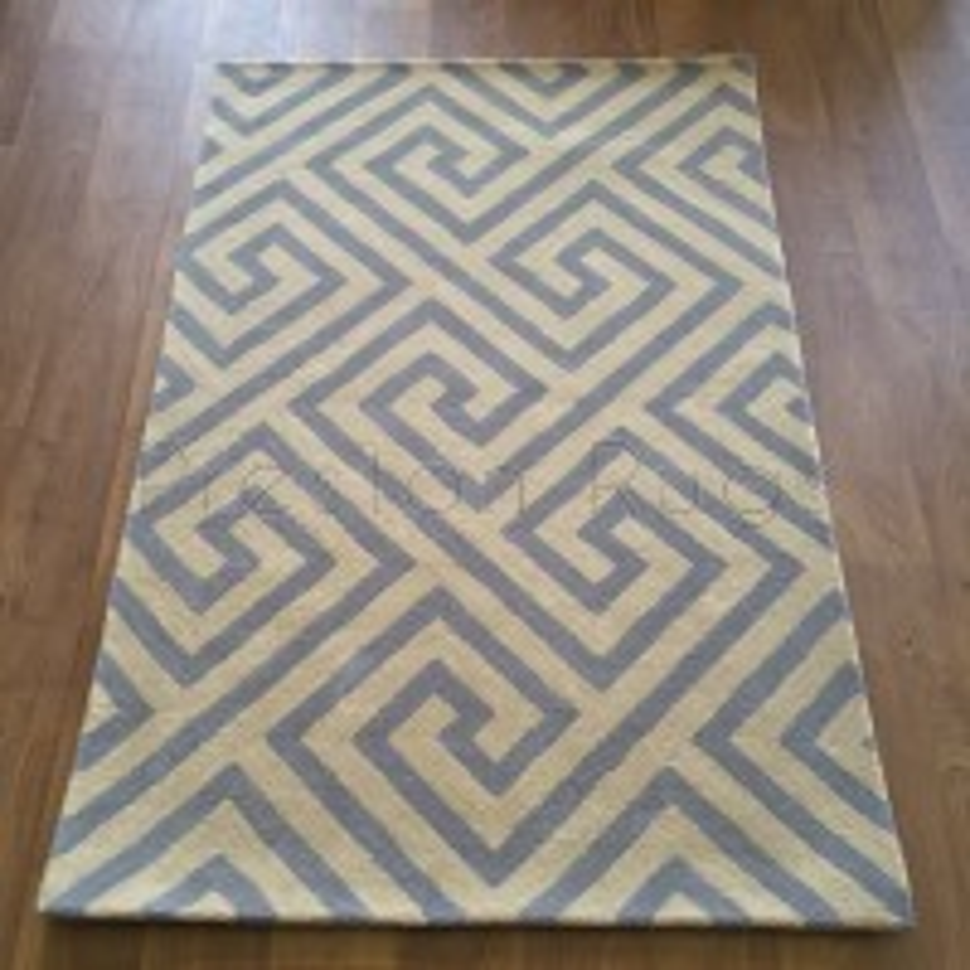 Handmade Wool Special Maze Blue Cream - 114 x 175 cm