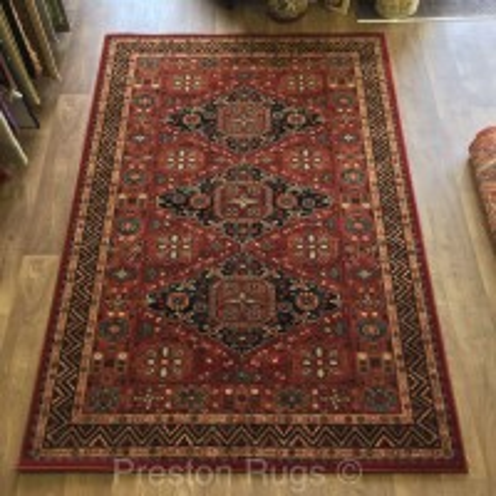 "Kashqai Traditional Persian Design Rug - 4308/300-240 x 340 cm (7'10"" x 11'2"")"