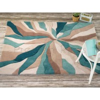 Infinite Splinter Teal Rug-120 x 170 cm