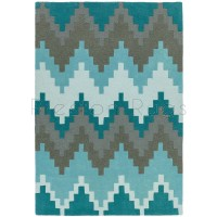 "Matrix Rug - 21 Cuzzo Teal - Size 120 x 170 cm (4' x 5'7"")"
