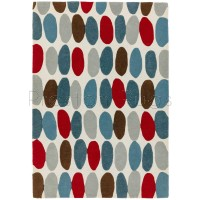 "Matrix Rug - 33 Sofia Red / Teal - Size 120 x 170 cm (4' x 5'7"")"