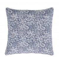 Murray Stonewash Dhurrie Rug - Blue-Cushion Covers 47 x 47 cm (Twin Pack)