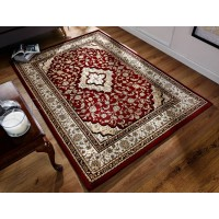 "Ottoman Temple Rug - Red - Size 160 x 230 cm (5'3"" x 7'7"")"
