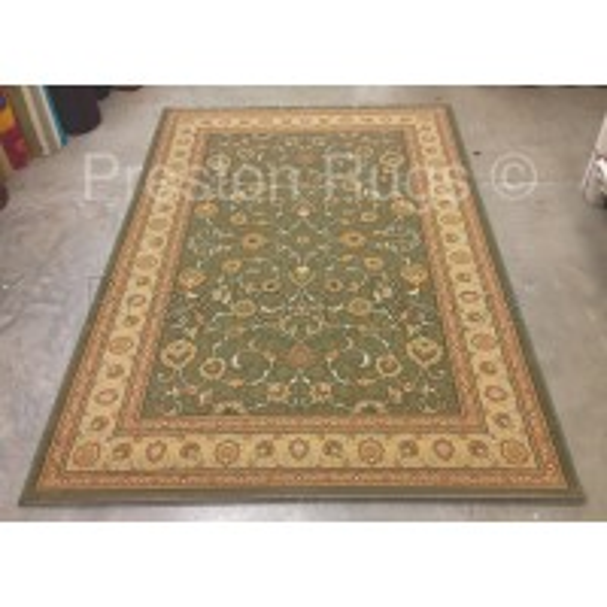 Noble Art Traditional Persian Agra Design Rug - Green Beige Cream 6529/491