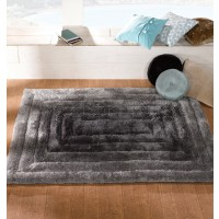 "Verge Ridge Black/Grey Rug-80 x 150 cm (2'8"" x 5')"