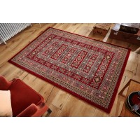 Royal Classic Traditional Persian Design Red Rug - 191 R-120 x 180 cm (4' x 6')