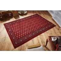 "Royal Classic Traditional Bokhara Design Red Rug - 537 R-200 x 285 cm (6'7"" x 9'4"")"