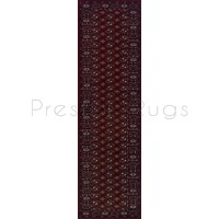 Royal Classic Traditional Bokhara Design Red Rug - 537 R-Runner 68 x 235 cm