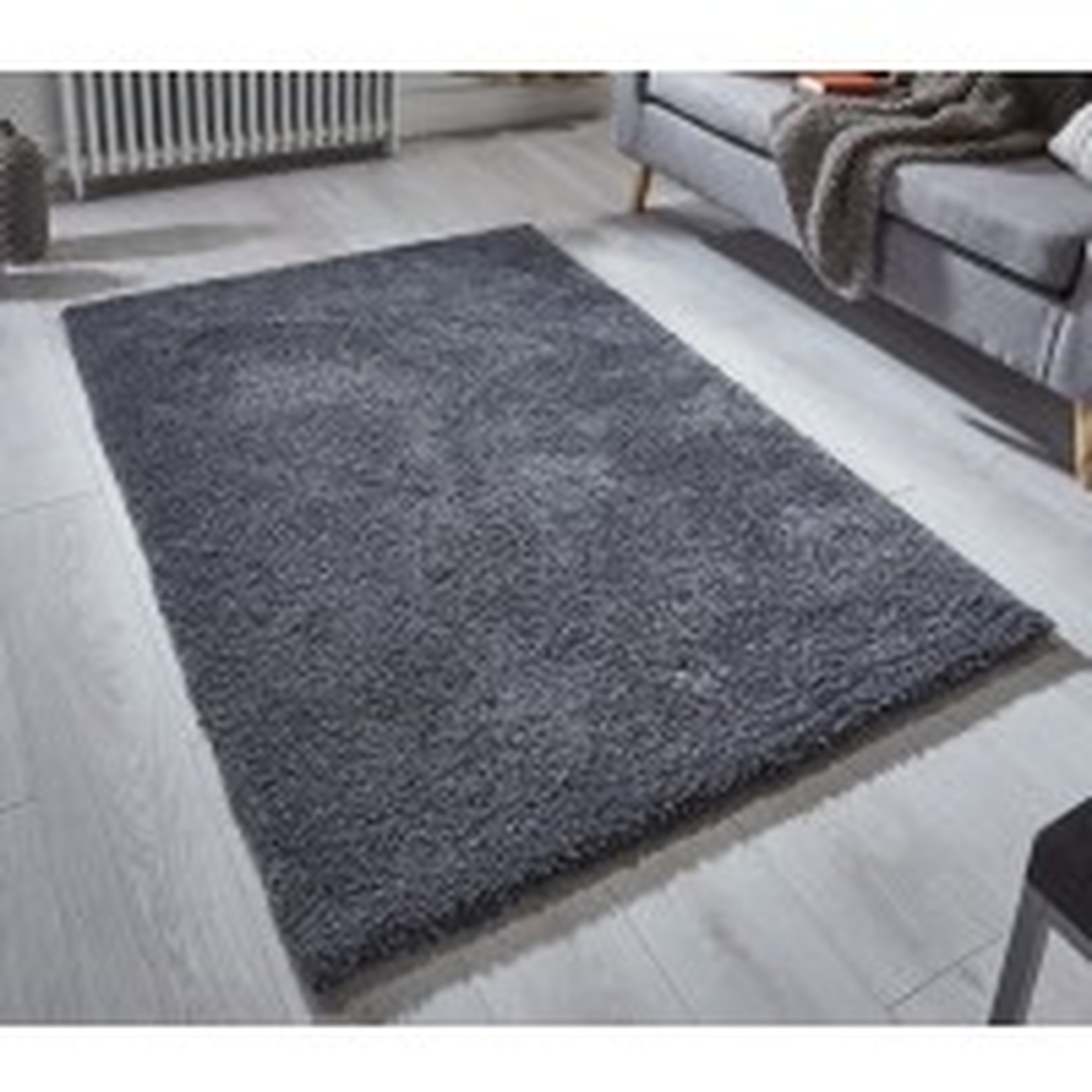 "Softness Shaggy Rug - Charcoal-160 x 230 cm (5'3"" x 7'7"")"