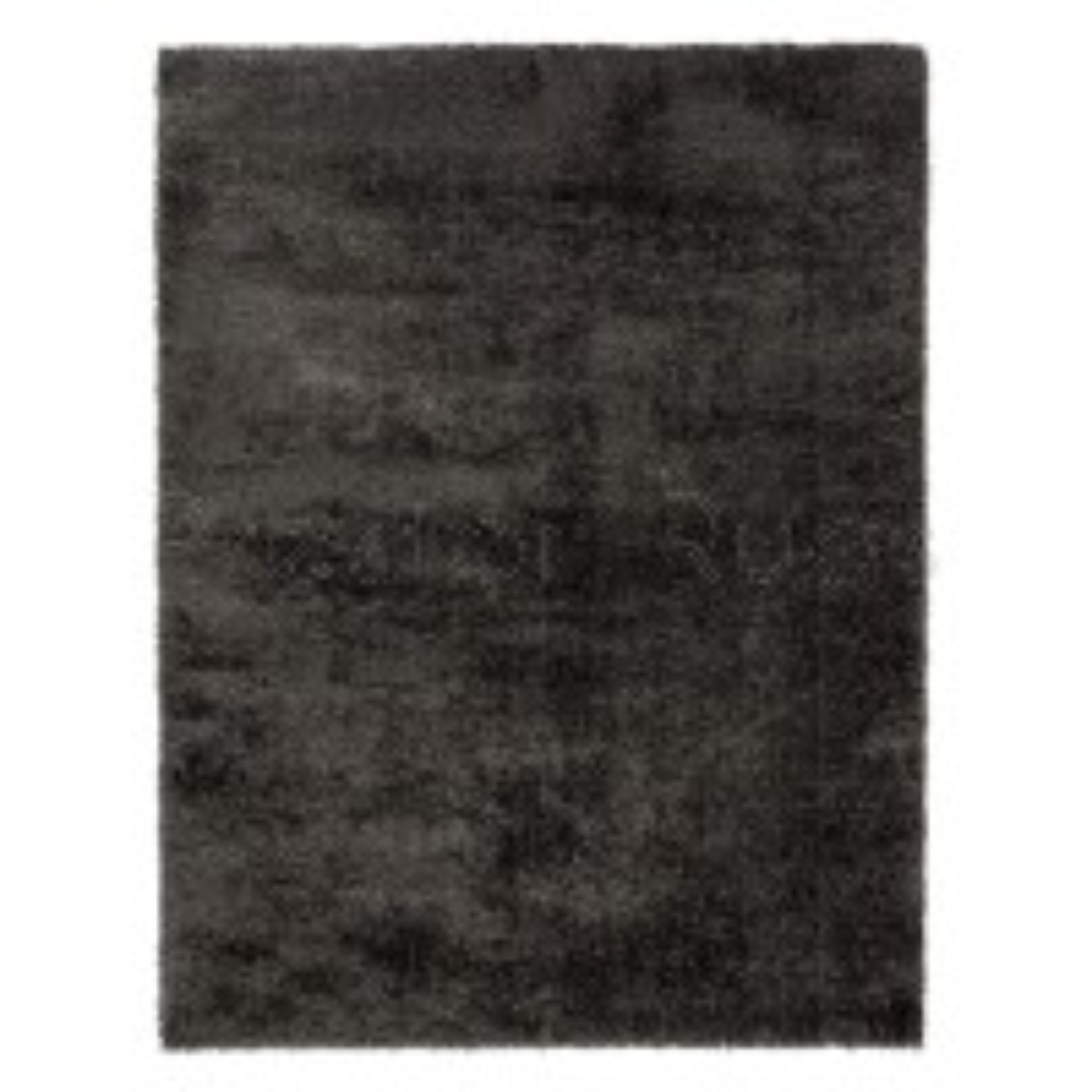 "Velvet Shaggy Rug - Charcoal - Size 80 x 150 cm (2'8"" x 5')"